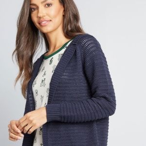 Lucky Brand Navy Knit Cardigan